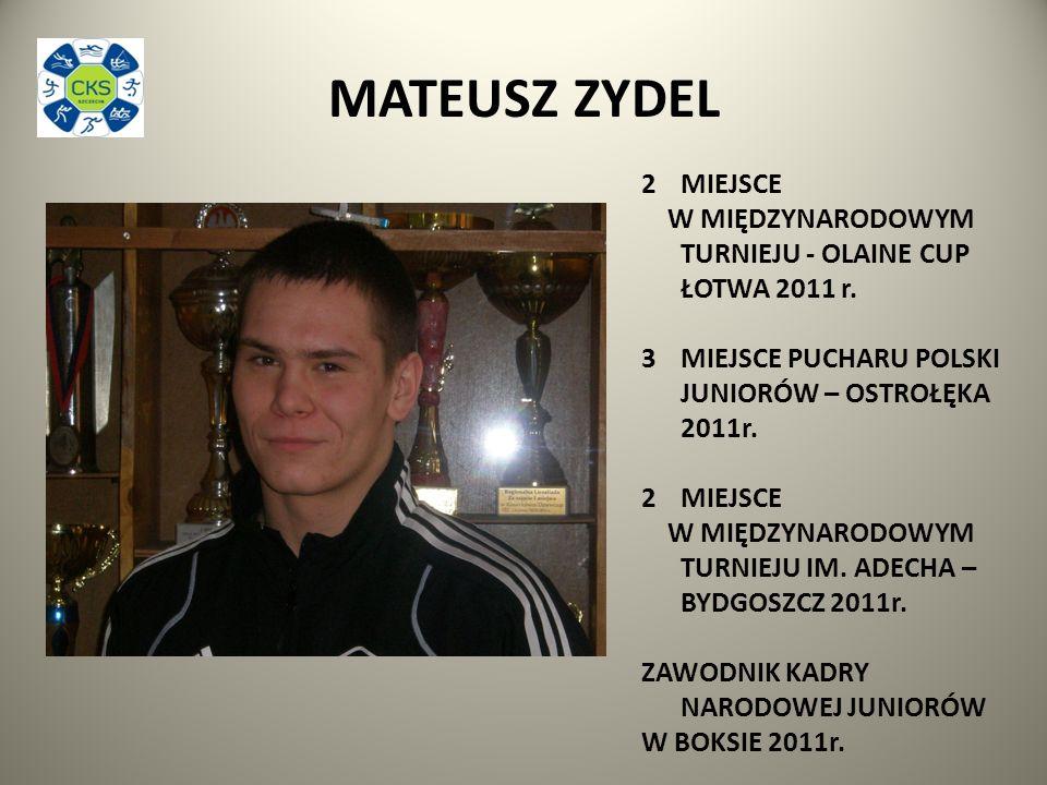 MATEUSZ ZYDEL 2MIEJSCE W MIĘDZYNARODOWYM TURNIEJU - OLAINE CUP ŁOTWA 2011 r.