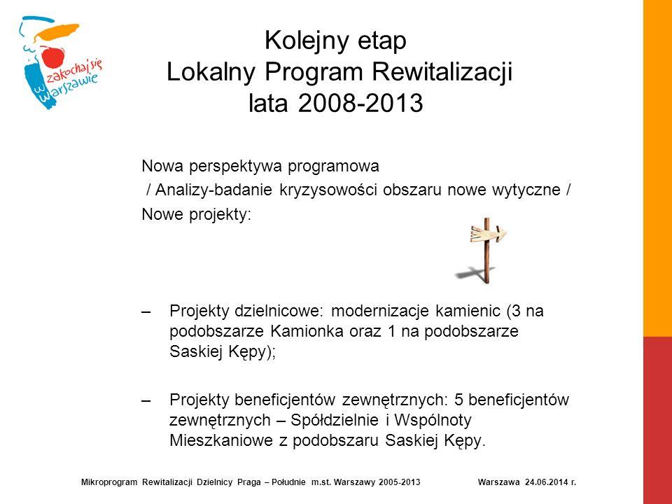 Kolejny etap Lokalny Program Rewitalizacji lata 2008-2013 Nowa perspektywa programowa / Analizy-badanie kryzysowości obszaru nowe wytyczne / Nowe proj