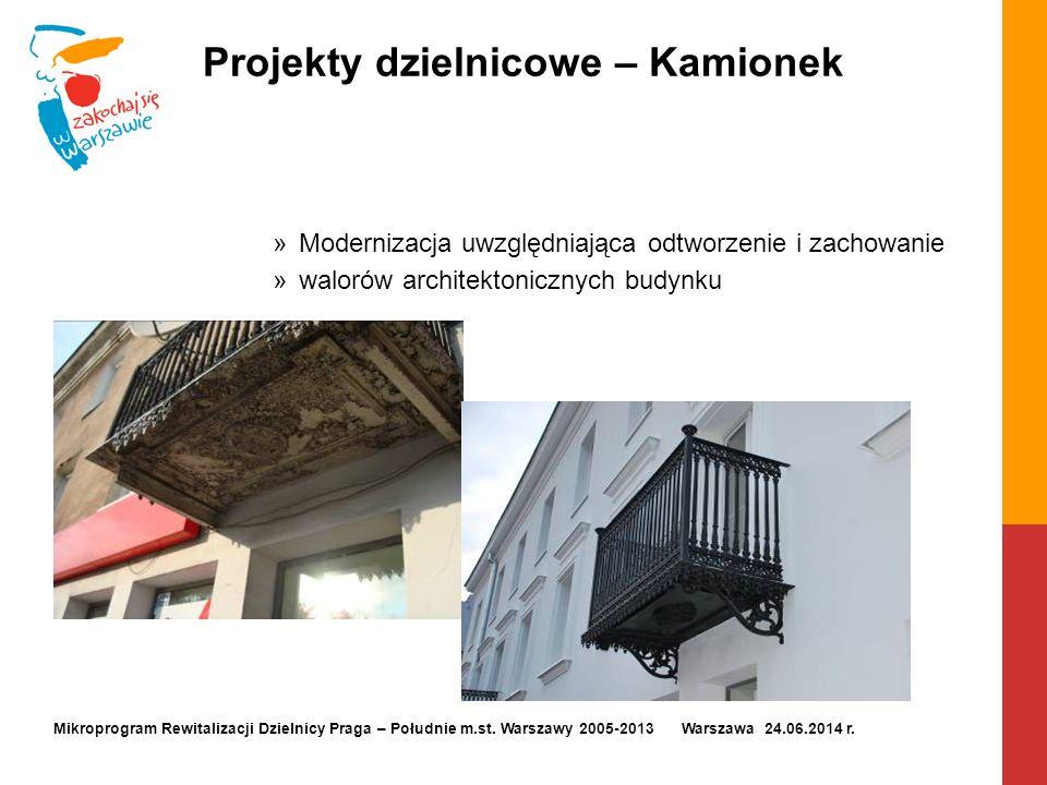 Projekty dzielnicowe – Kamionek »Modernizacja uwzględniająca odtworzenie i zachowanie »walorów architektonicznych budynku Mikroprogram Rewitalizacji D