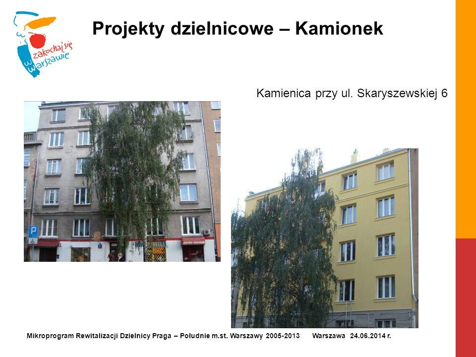 Projekty dzielnicowe – Kamionek Kamienica przy ul. Skaryszewskiej 6 Mikroprogram Rewitalizacji Dzielnicy Praga – Południe m.st. Warszawy 2005-2013 War