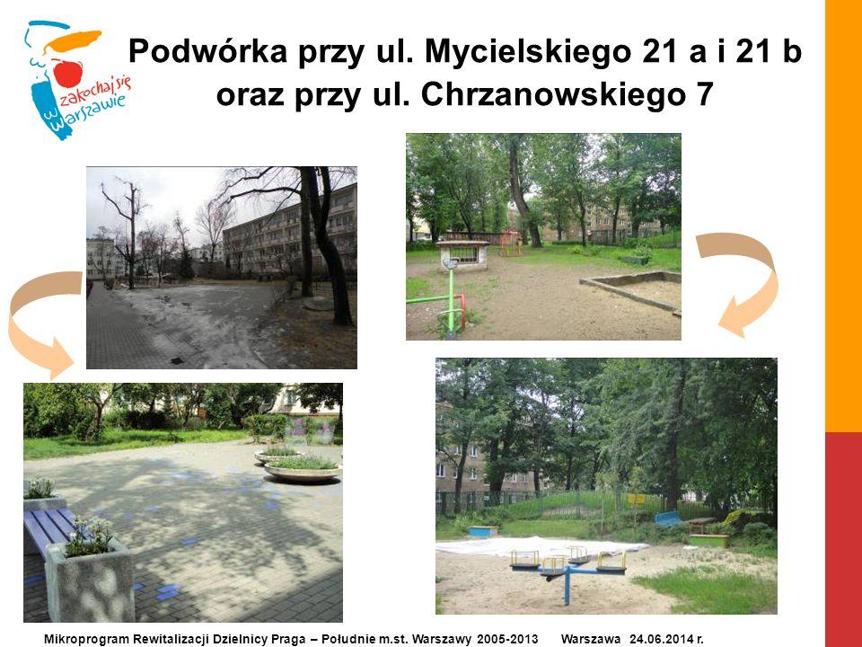 Podwórka przy ul. Mycielskiego 21 a i 21 b oraz przy ul. Chrzanowskiego 7 Mikroprogram Rewitalizacji Dzielnicy Praga – Południe m.st. Warszawy 2005-20