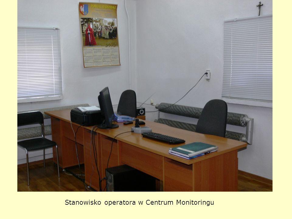 Stanowisko operatora w Centrum Monitoringu