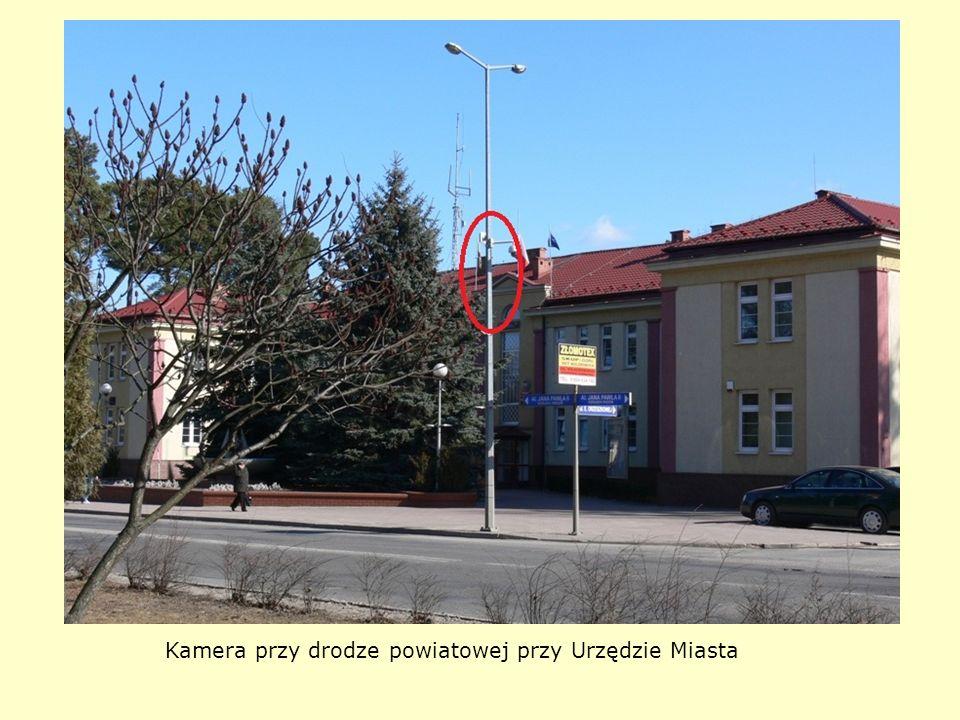Kamera przy drodze powiatowej przy Urzędzie Miasta