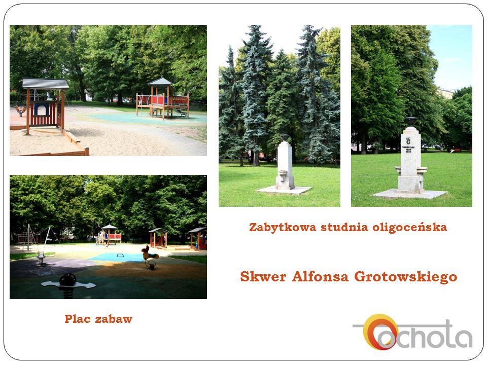 Plac zabaw Zabytkowa studnia oligoceńska Skwer Alfonsa Grotowskiego