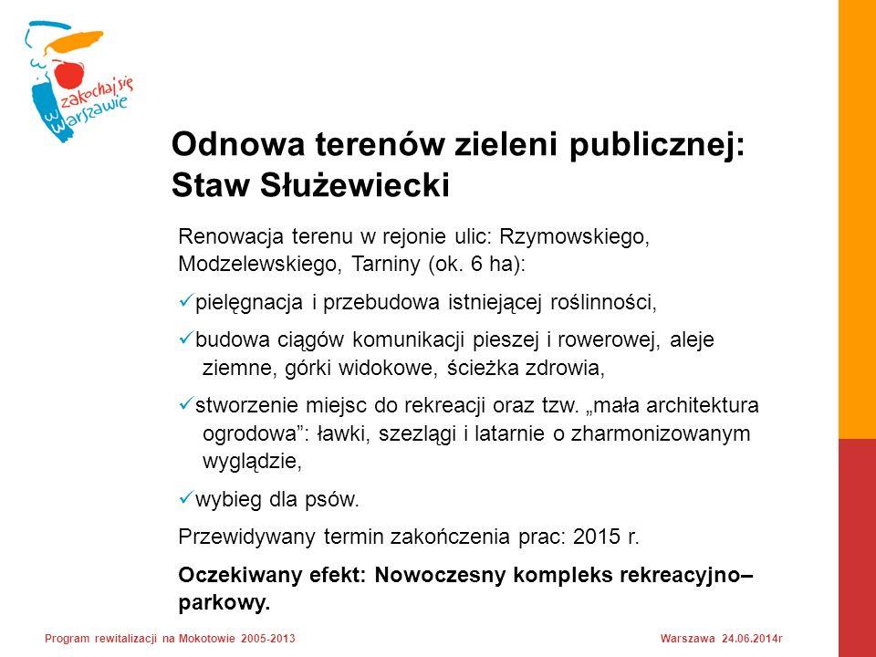 Renowacja terenu w rejonie ulic: Rzymowskiego, Modzelewskiego, Tarniny (ok.