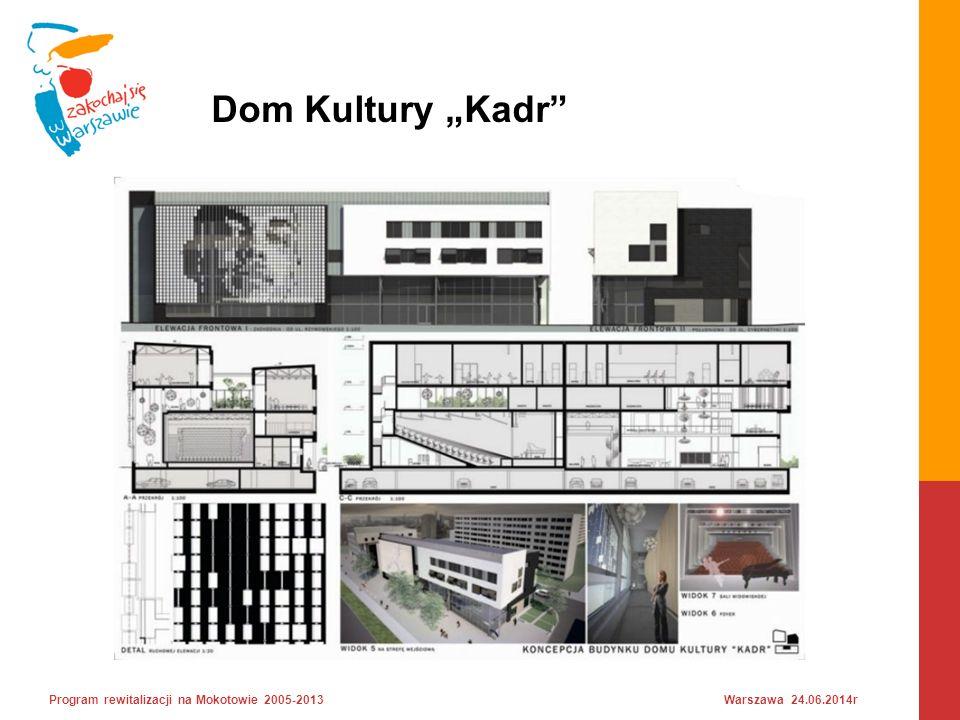 """Dom Kultury """"Kadr Program rewitalizacji na Mokotowie 2005-2013 Warszawa 24.06.2014r"""