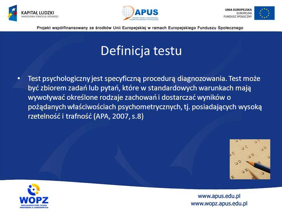 Czym się zajmuje psychometria? Psychometria to gałąź psychologii zajmująca się określaniem warunków, jakie powinny spełniać narzędzia wykorzystywane d