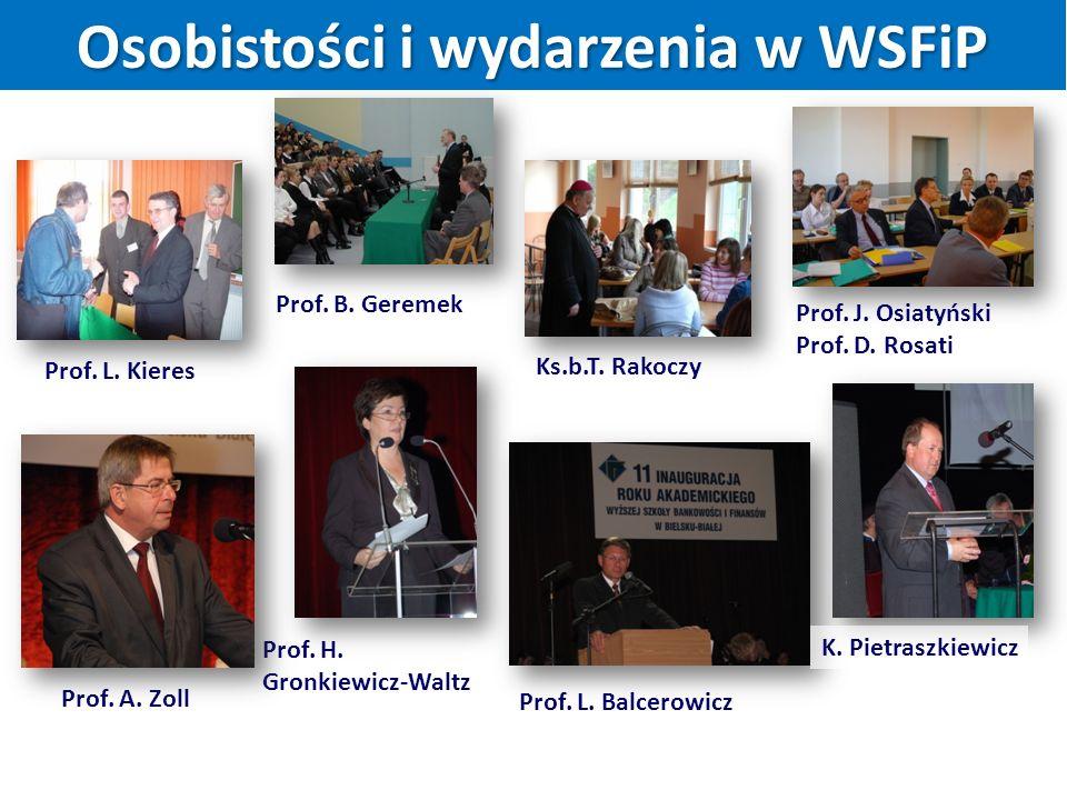 Prof. B. Geremek Ks.b.T. Rakoczy Prof. A. Zoll Prof.