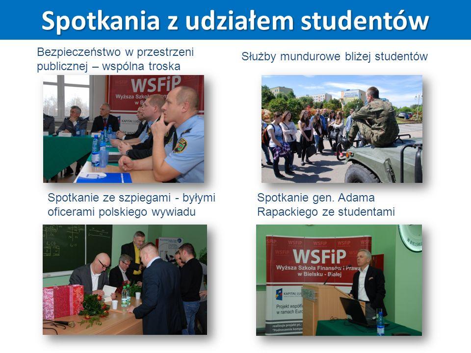 Spotkania z udziałem studentów Bezpieczeństwo w przestrzeni publicznej – wspólna troska Służby mundurowe bliżej studentów Spotkanie gen. Adama Rapacki