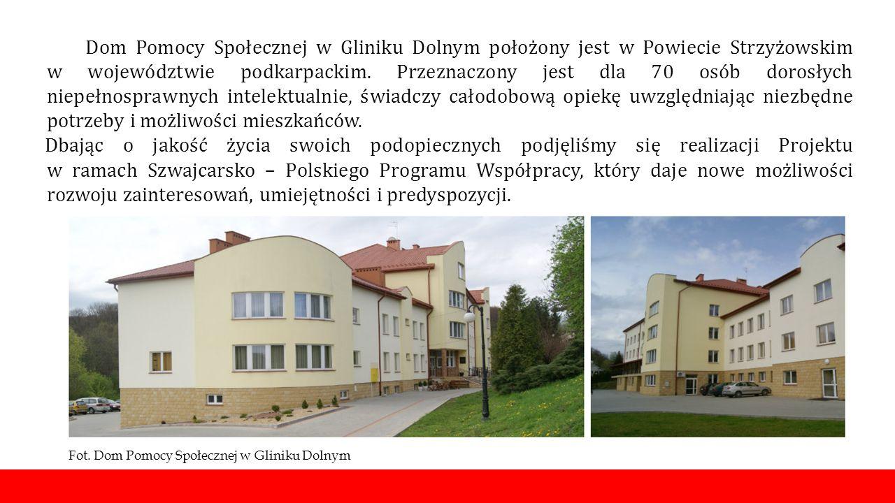 Dom Pomocy Społecznej w Gliniku Dolnym położony jest w Powiecie Strzyżowskim w województwie podkarpackim.