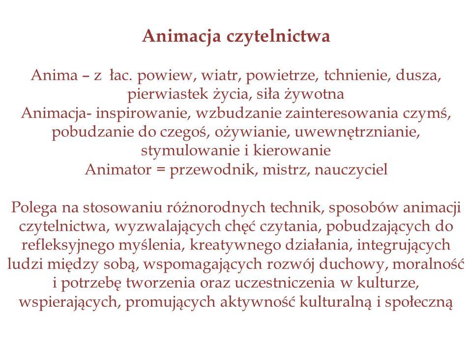 Animacja czytelnictwa Anima – z łac.