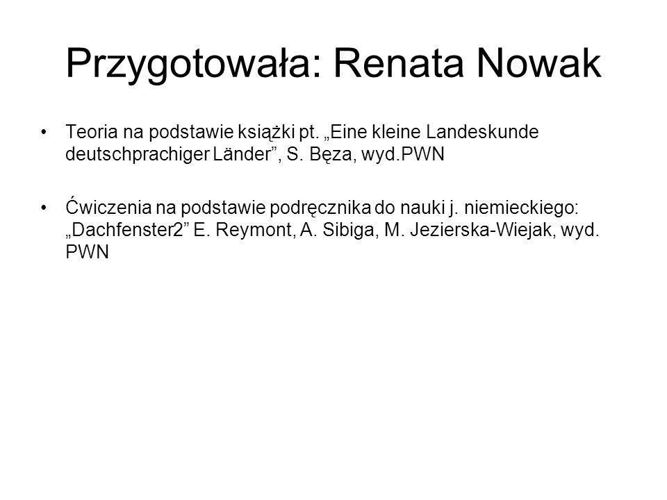 Przygotowała: Renata Nowak Teoria na podstawie książki pt.