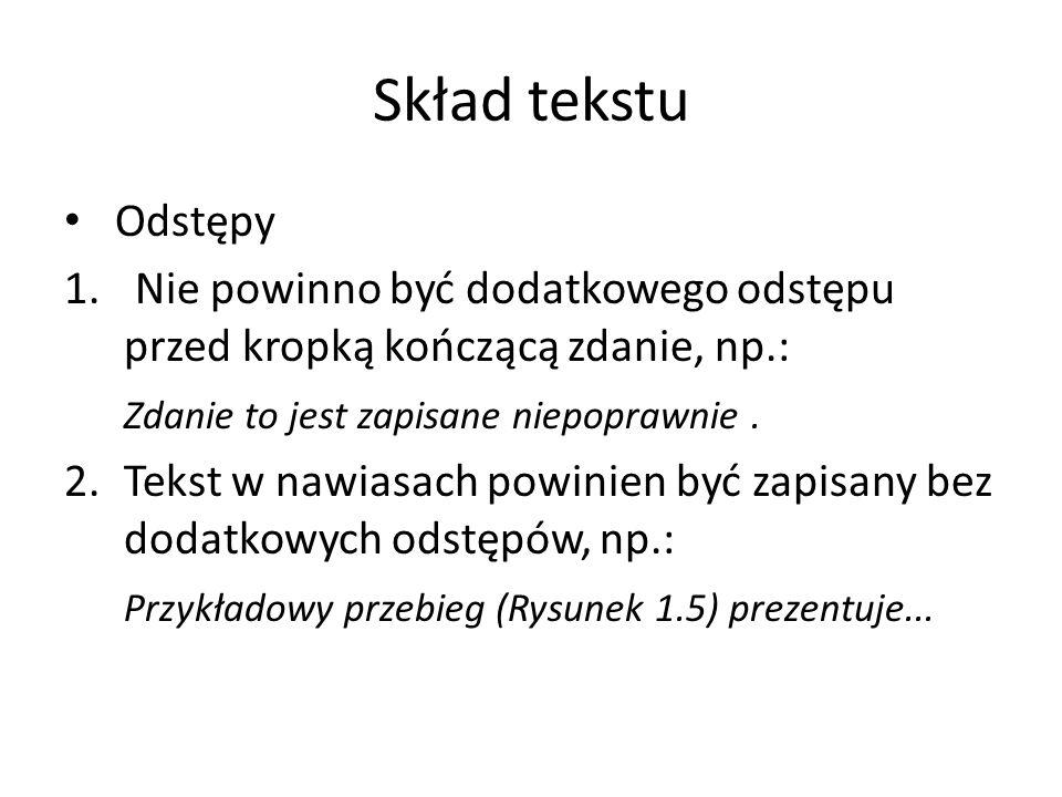 Skład tekstu Odstępy 1.