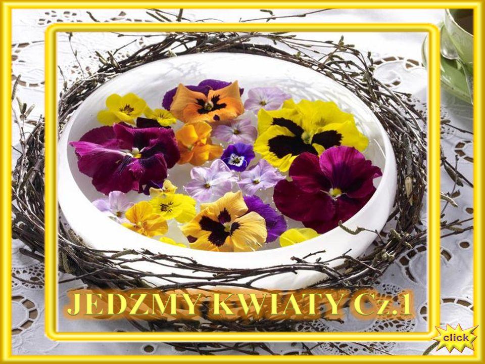 Fiołki - To przede wszystkim idealna dekoracja - nie tylko ciast i tortów, również sałatek, galaretek.