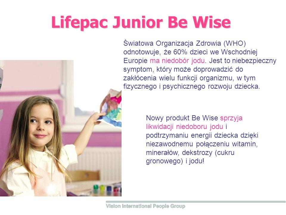 Lifepac Junior Be Wise Światowa Organizacja Zdrowia (WHO) odnotowuje, że 60% dzieci we Wschodniej Europie ma niedobór jodu. Jest to niebezpieczny symp