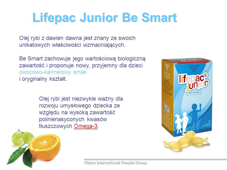 Lifepac Junior Вe Smart Olej rybi z dawien dawna jest znany ze swoich unikatowych właściwości wzmacniających. Be Smart zachowuje jego wartościową biol