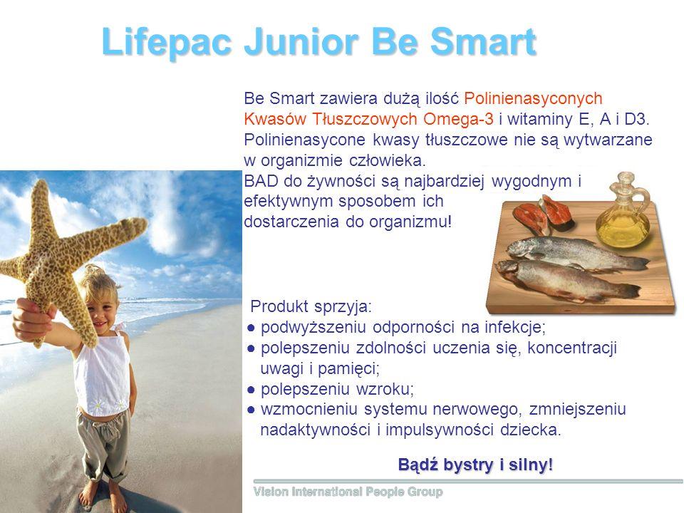 Lifepac Junior Вe Smart Bądź bystry i silny! Be Smart zawiera dużą ilość Polinienasyconych Kwasów Tłuszczowych Omega-3 i witaminy Е, А i D3. Poliniena