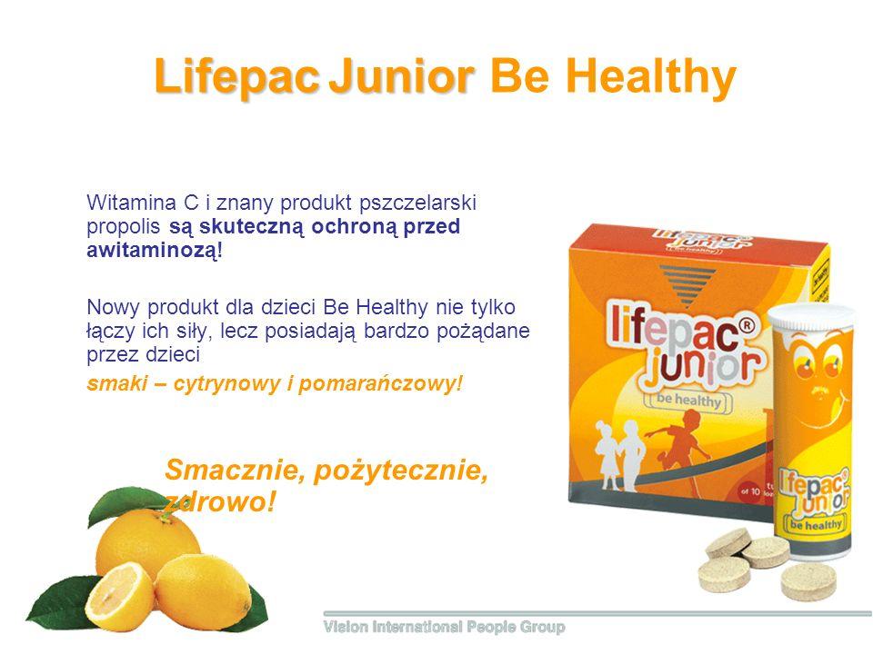 Lifepac Junior Lifepac Junior Be Healthy Witamina С i znany produkt pszczelarski propolis są skuteczną ochroną przed awitaminozą! Nowy produkt dla dzi