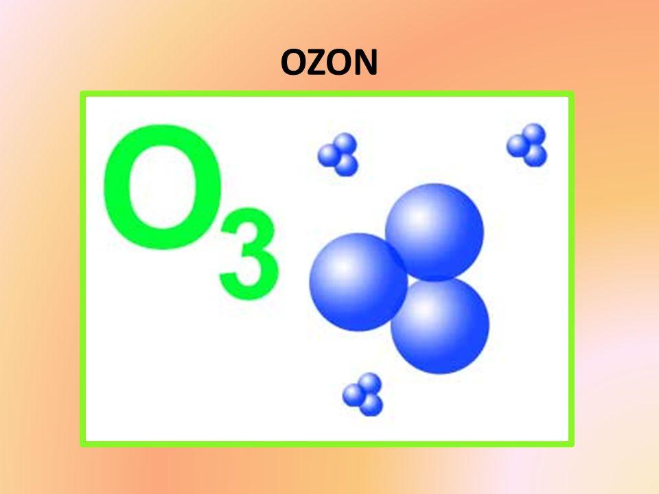 -Nazywany również aktywnym tlenem, -zawiera trzy atomy tlenu a nie dwa jak tlen, którym oddychamy, -Jest bardzo silnym sterylizatorem znanym człowiekowi.