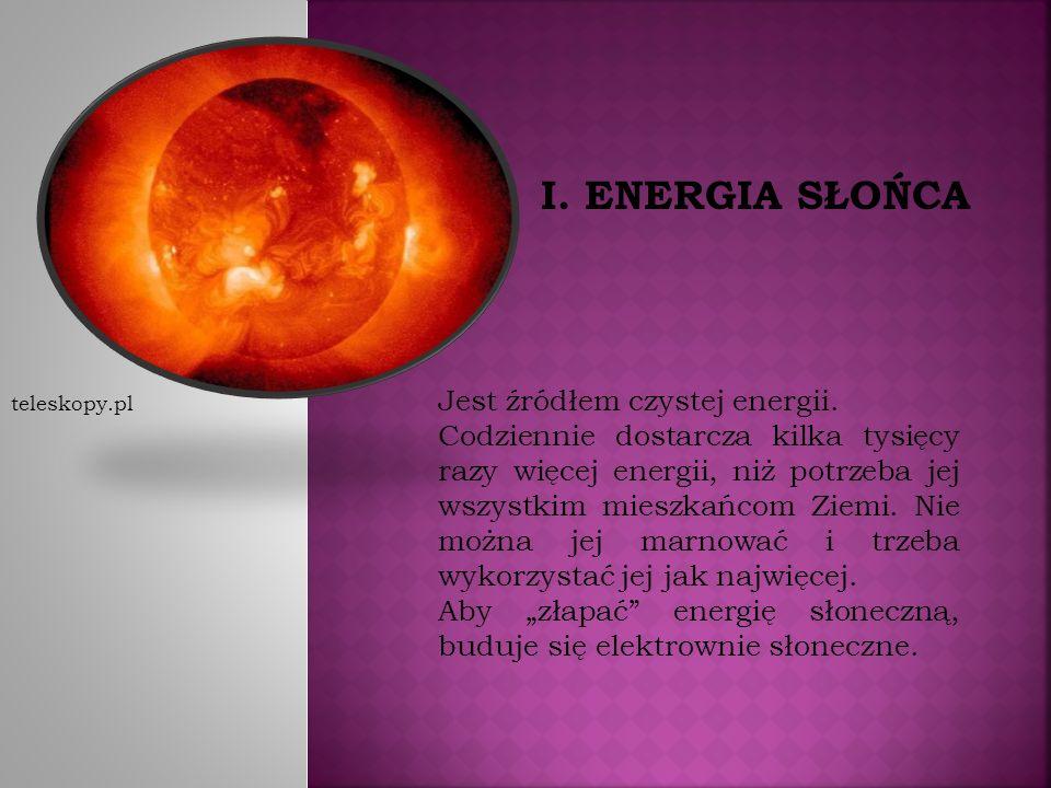 Jest źródłem czystej energii.