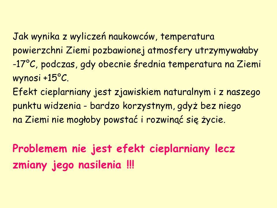 Jak wynika z wyliczeń naukowców, temperatura powierzchni Ziemi pozbawionej atmosfery utrzymywałaby -17°C, podczas, gdy obecnie średnia temperatura na