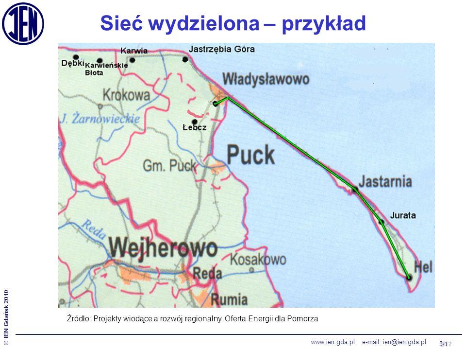 5/ 17 © IEN Gdańsk 2010 www.ien.gda.pl e-mail: ien@ien.gda.pl Sieć wydzielona – przykład Źródło: Projekty wiodące a rozwój regionalny. Oferta Energii