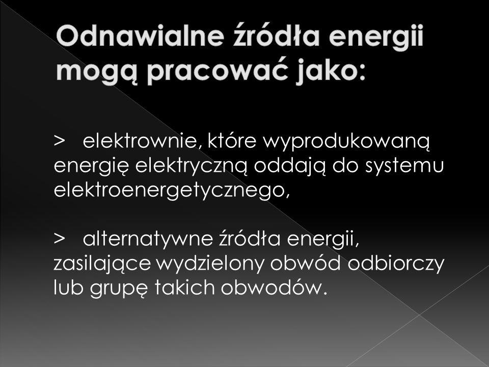 > energię promieniowania słonecznego, > energię wiatru, > energię geotermalną, > biogaz, > biomasę.