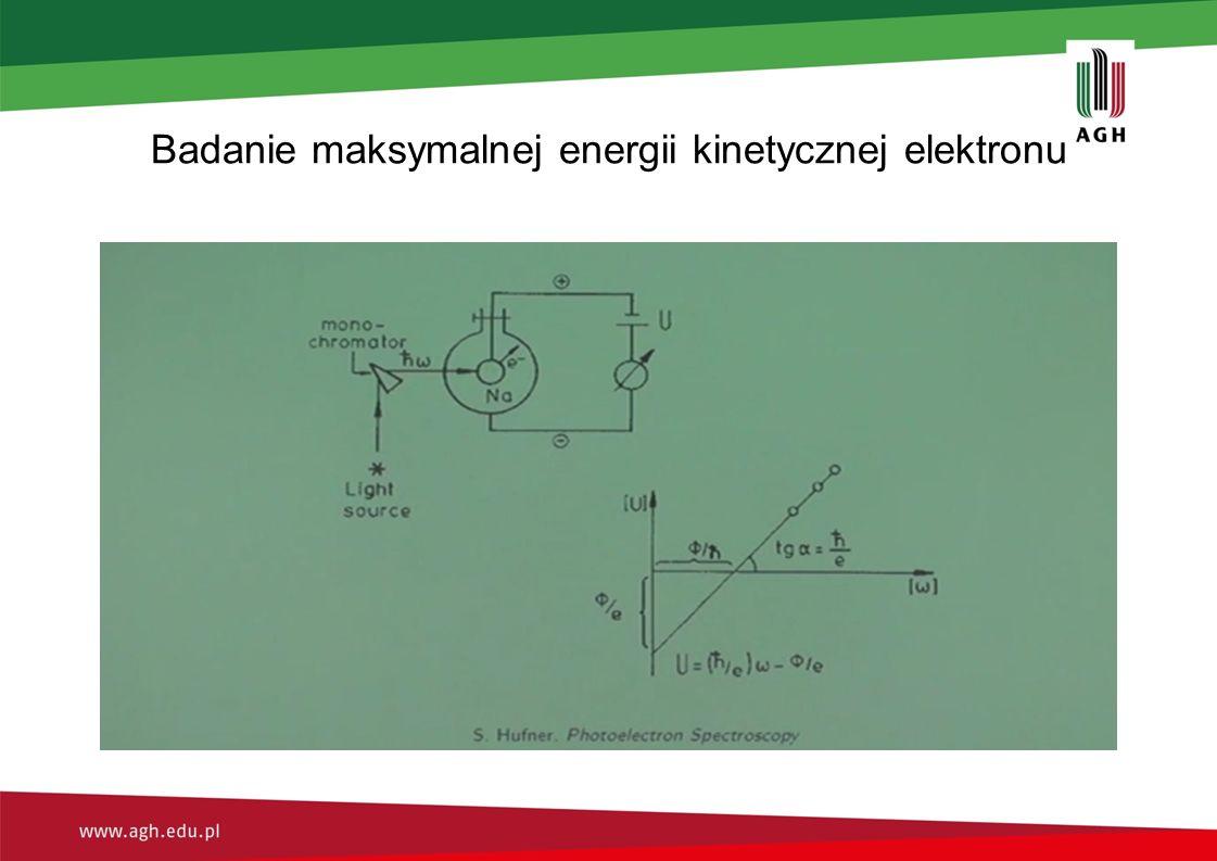 Badanie maksymalnej energii kinetycznej elektronu