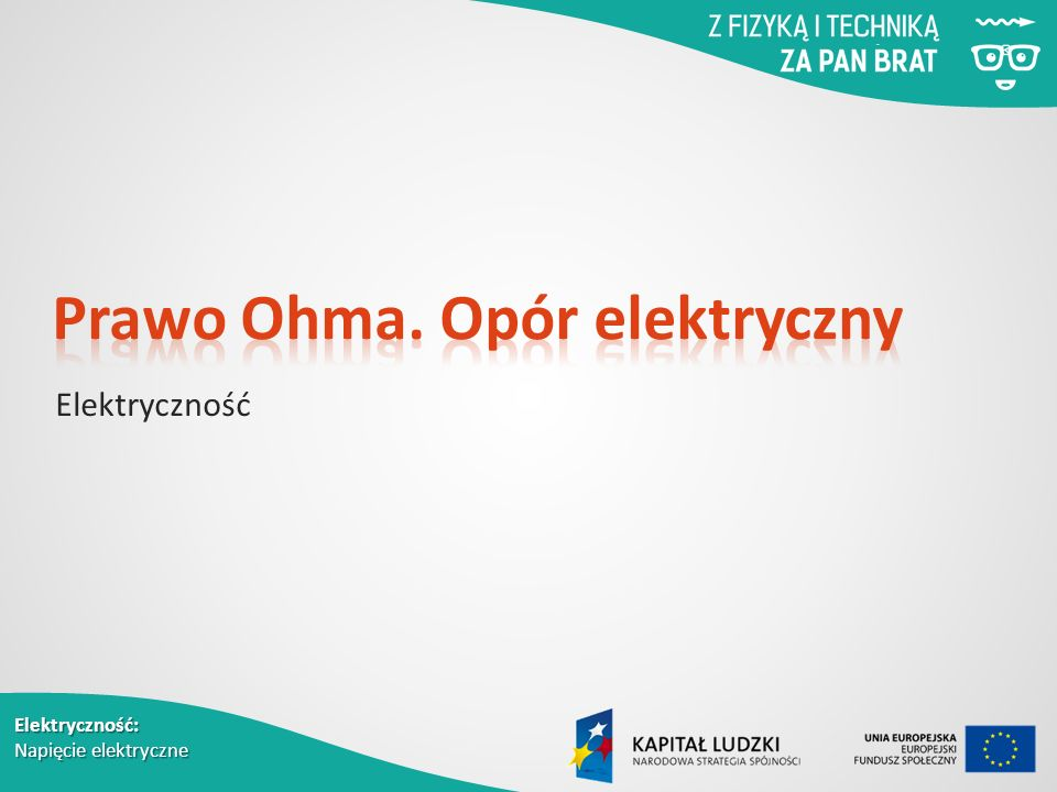Elektryczność: Napięcie elektryczne Elektryczność