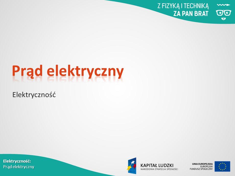 Elektryczność: Prąd elektryczny Elektryczność