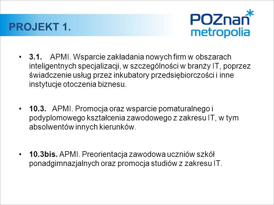 3.1. APMI. Wsparcie zakładania nowych firm w obszarach inteligentnych specjalizacji, w szczególności w branży IT, poprzez świadczenie usług przez inku