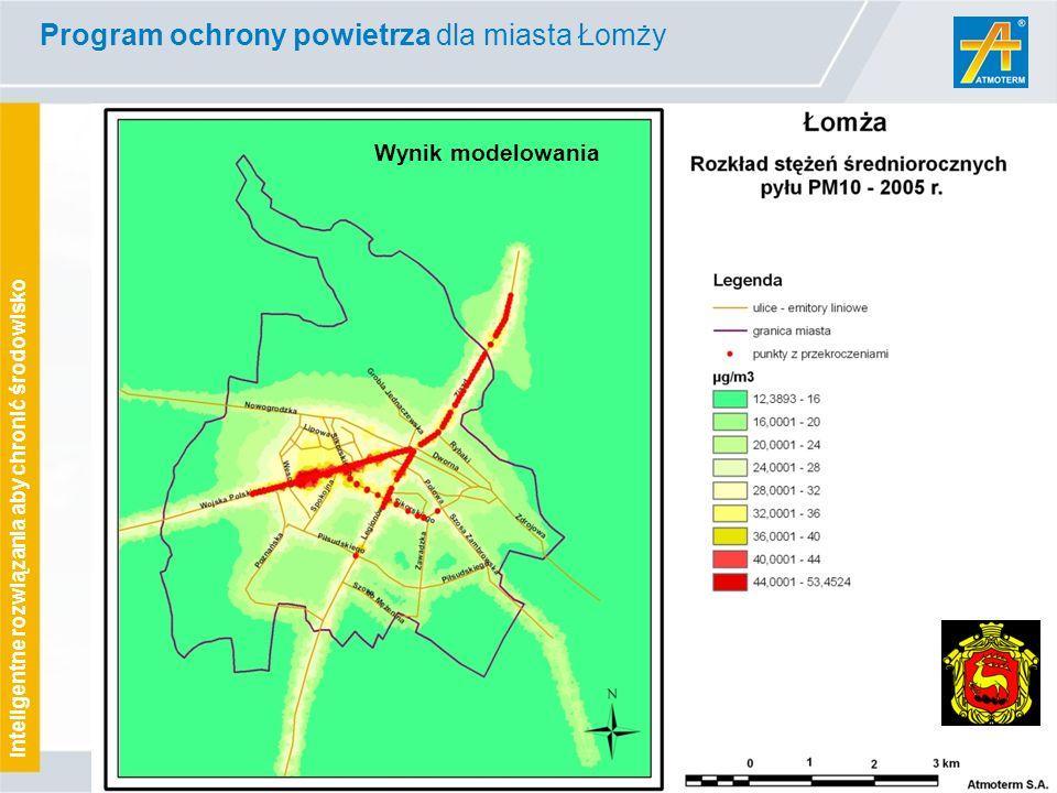 www.atmoterm.pl Inteligentne rozwiązania aby chronić środowisko Wynik modelowania Program ochrony powietrza dla miasta Łomży