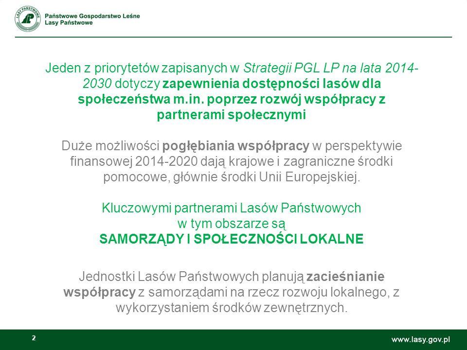 2 Jeden z priorytetów zapisanych w Strategii PGL LP na lata 2014- 2030 dotyczy zapewnienia dostępności lasów dla społeczeństwa m.in.