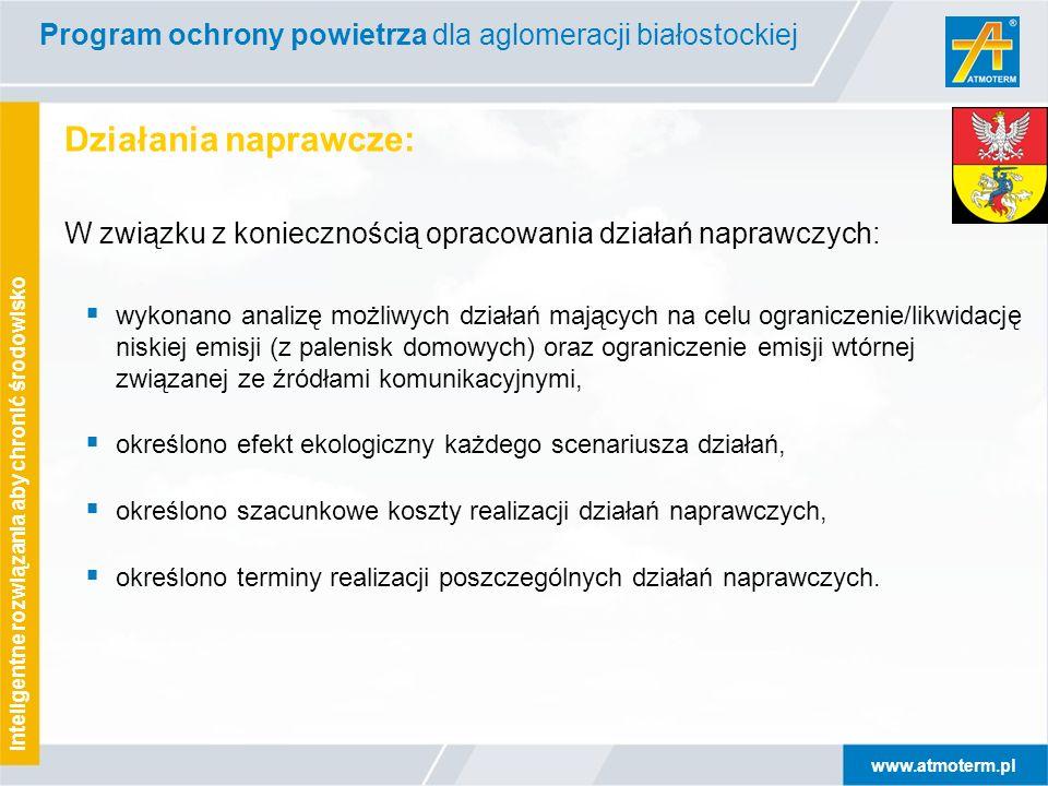 www.atmoterm.pl Inteligentne rozwiązania aby chronić środowisko Działania naprawcze: W związku z koniecznością opracowania działań naprawczych:  wyko