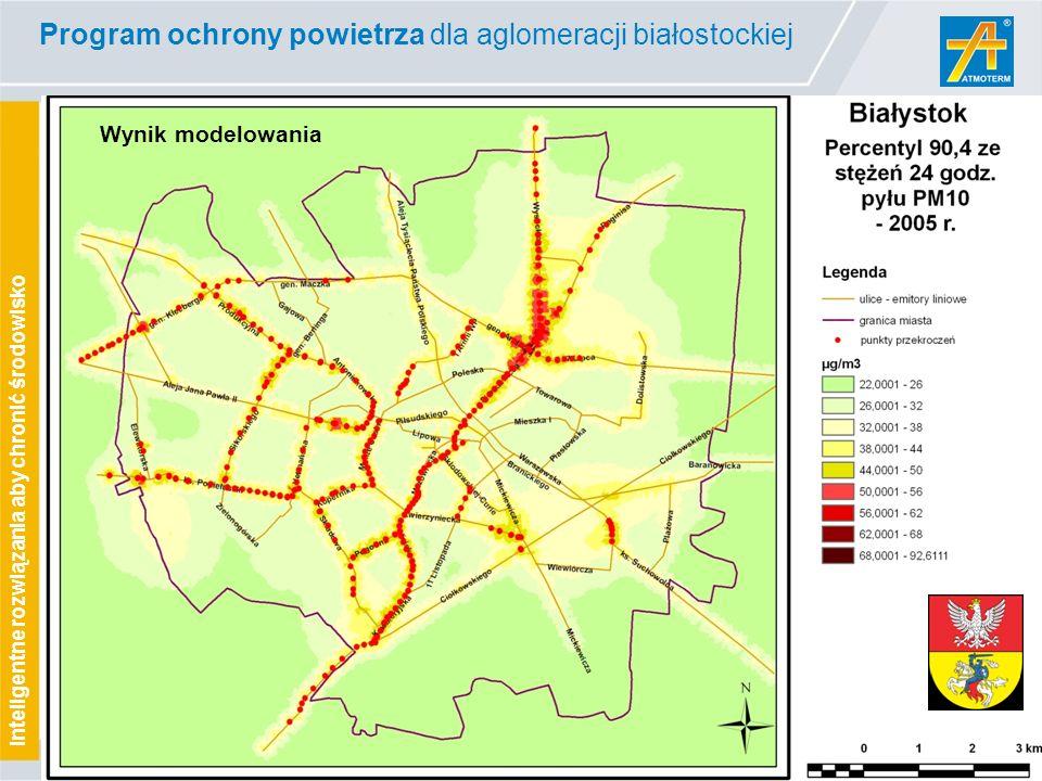 www.atmoterm.pl Inteligentne rozwiązania aby chronić środowisko Wynik modelowania Program ochrony powietrza dla aglomeracji białostockiej