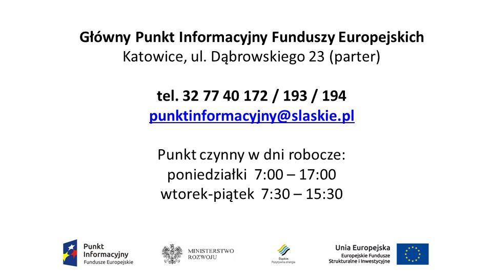 Główny Punkt Informacyjny Funduszy Europejskich Katowice, ul.