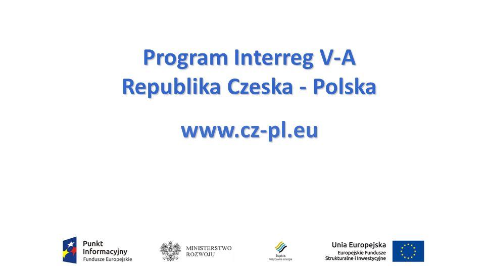 Program Interreg V-A Republika Czeska - Polska www.cz-pl.eu