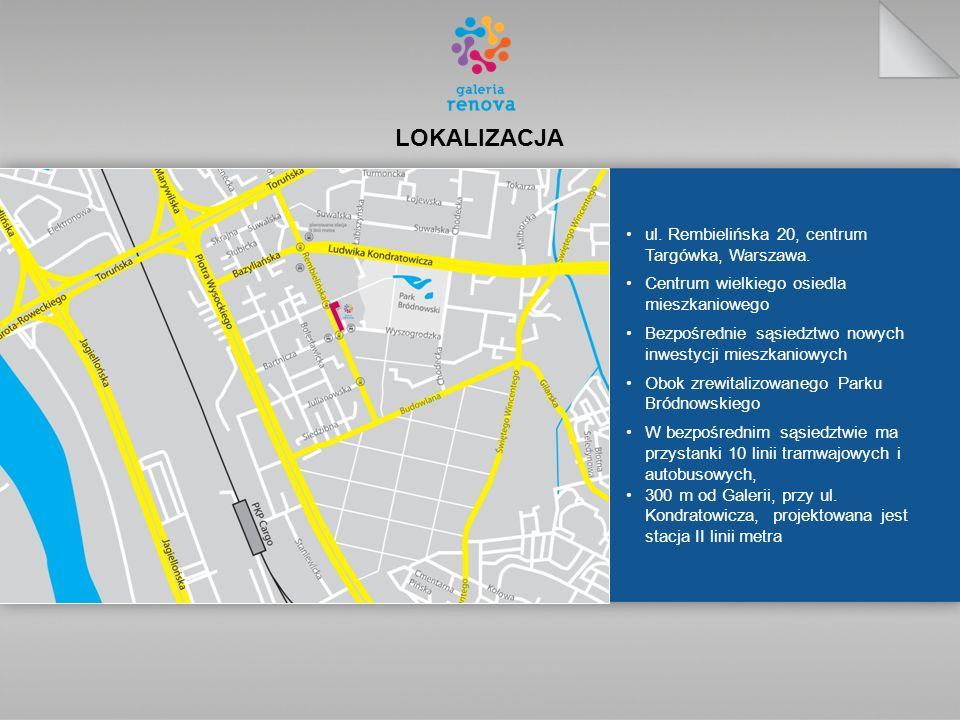 LOKALIZACJA ul.Rembielińska 20, centrum Targówka, Warszawa.