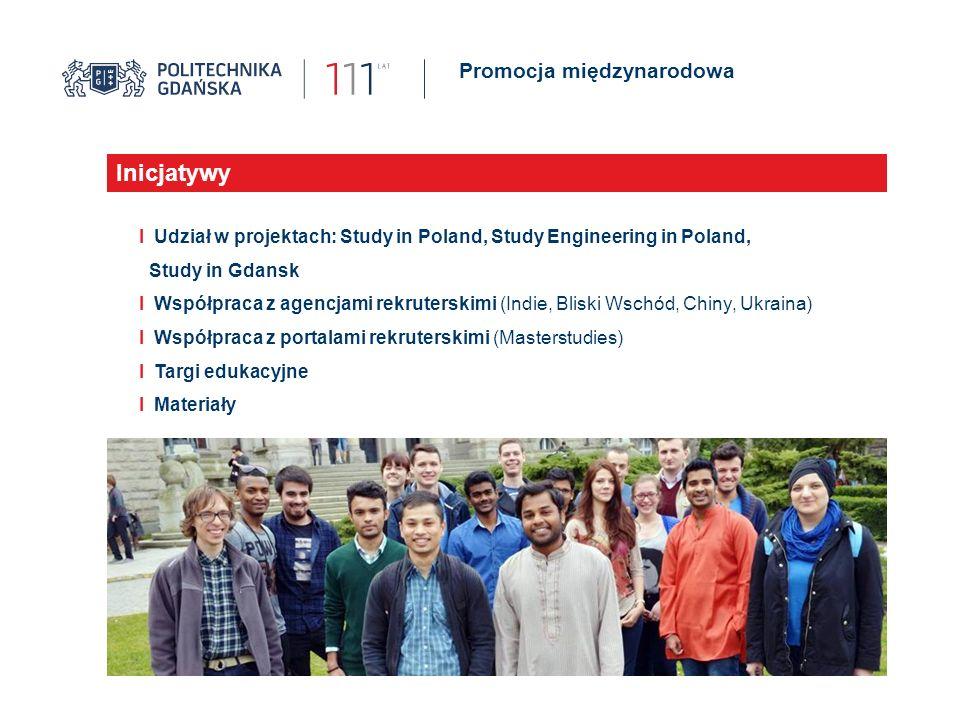 Promocja międzynarodowa Jubileusz 110 lat Politechniki Gdańskiej Inicjatywy I Udział w projektach: Study in Poland, Study Engineering in Poland, Study