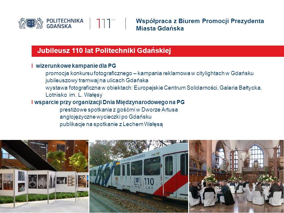 Współpraca z Biurem Promocji Prezydenta Miasta Gdańska Jubileusz 110 lat Politechniki Gdańskiej I wizerunkowe kampanie dla PG promocja konkursu fotogr