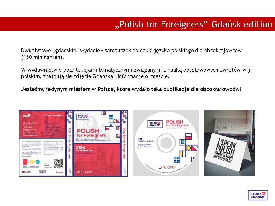 """Dwupłytowe """"gdańskie wydanie – samouczek do nauki języka polskiego dla obcokrajowców (150 min nagrań)."""
