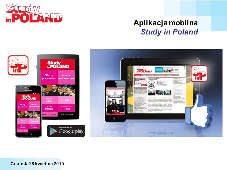 Aplikacja mobilna Study in Poland Gdańsk, 28 kwietnia 2015