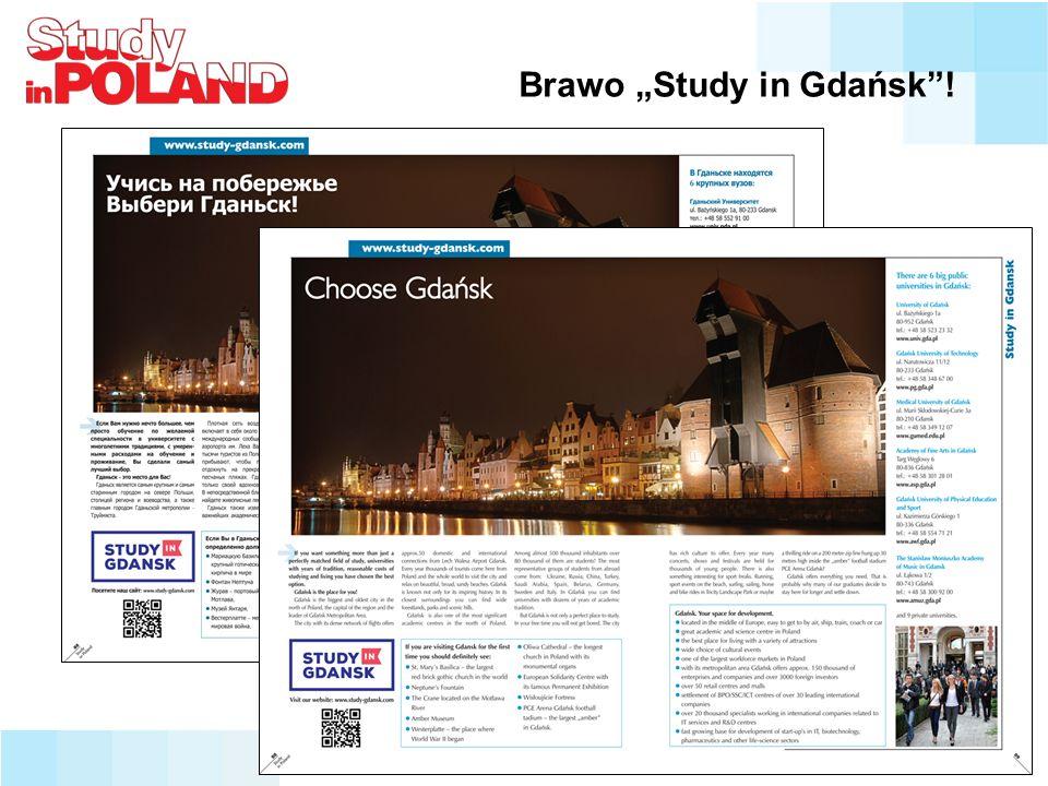 """Brawo """"Study in Gdańsk !"""