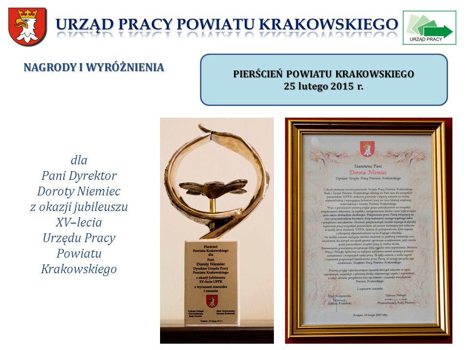 NAGRODY I WYRÓŻNIENIA PIERŚCIEŃ POWIATU KRAKOWSKIEGO 25 lutego 2015 r.