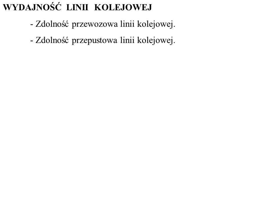 WYDAJNOŚĆ LINII KOLEJOWEJ - Zdolność przewozowa linii kolejowej.