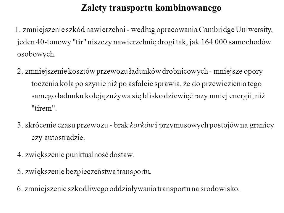Zalety transportu kombinowanego 1.