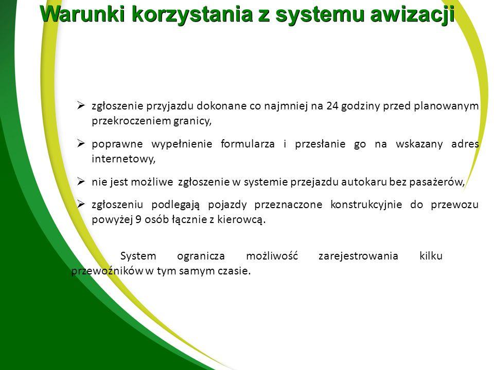 www.granica.gov.pl/eBooking Priorytetowa odprawa autobusów z dziećmi z automatyczną weryfikacją daty urodzenia pasażerów (70% poniżej 17 lat)