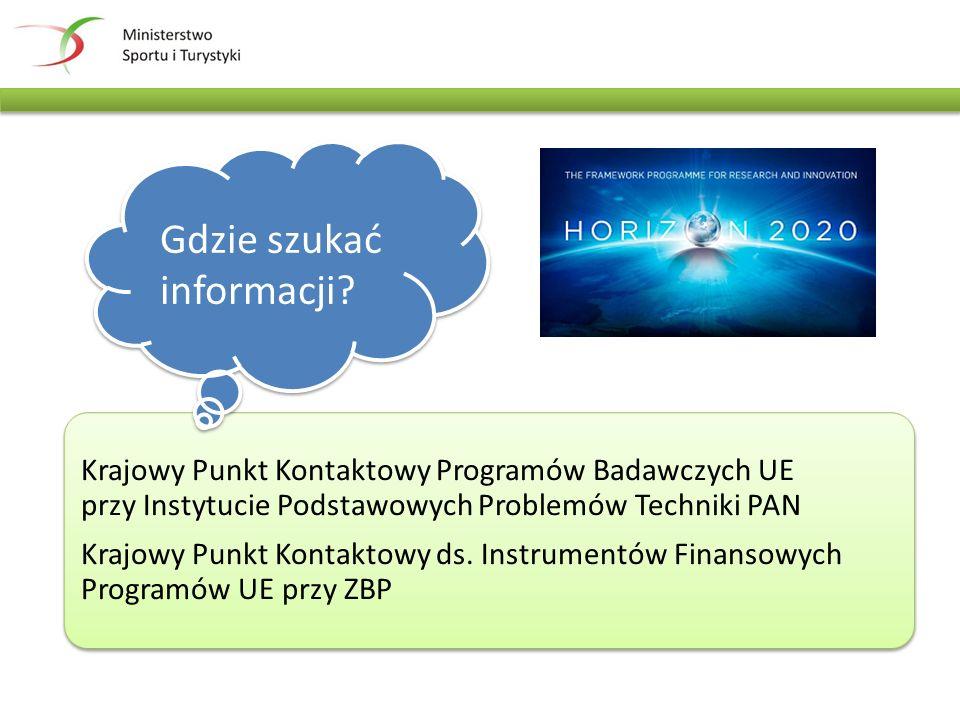 Krajowy Punkt Kontaktowy Programów Badawczych UE przy Instytucie Podstawowych Problemów Techniki PAN Krajowy Punkt Kontaktowy ds.