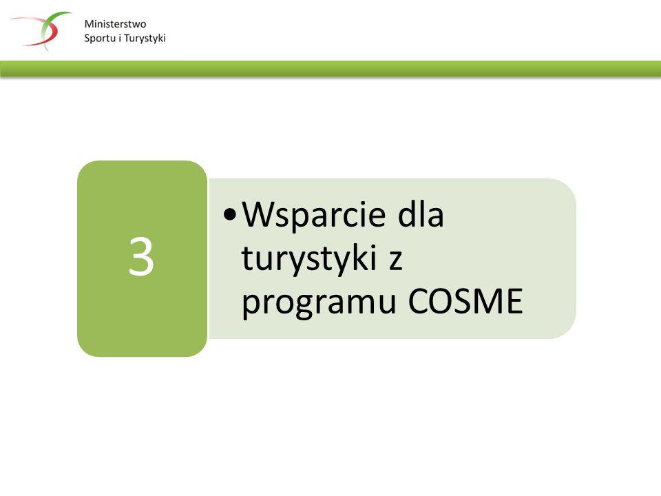 Wsparcie dla turystyki z programu COSME 3