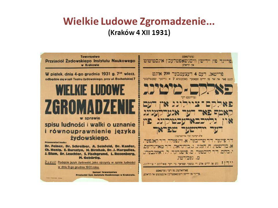 Wielkie Ludowe Zgromadzenie... (Kraków 4 XII 1931)